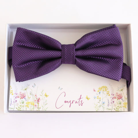 Purple bow tie, Best man request gift, Groomsman bow tie, Ring Bearer bow tie, Man of honor gift, baby announcement, toddler bow