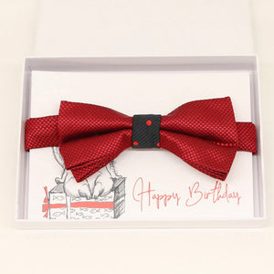 Red bow tie Best man Groomsman Man of honor ring bearer request gift, Kids adult bow, Adjustable Pre tied High quality, Birthday