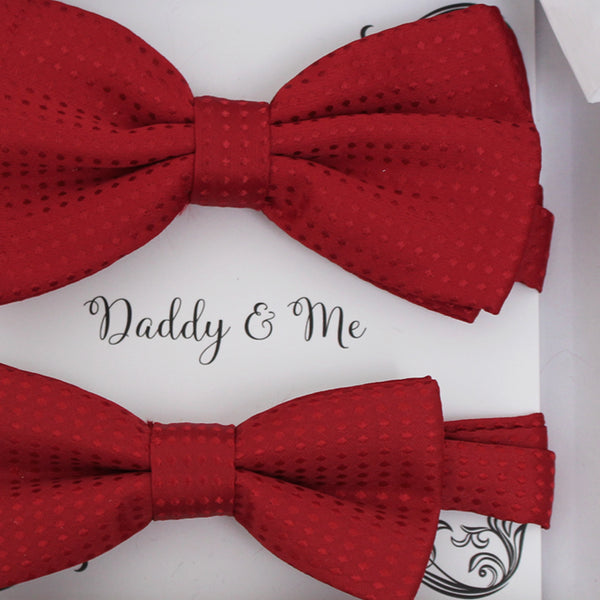 Red Polka dots Bow tie set for daddy and son, Daddy and me gift set, Grandpa and me, Father son matching, Toddler bow tie, daddy and me bow tie gift