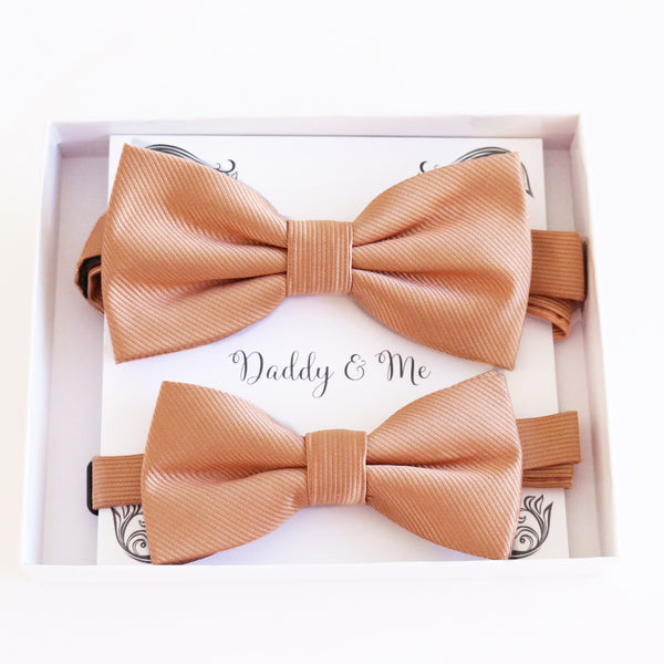 Rose gold Bow tie set daddy son, Grandpa and me, Father son matching, adult kids bow tie, high quality, Adjustable pre tied, Christmas gift