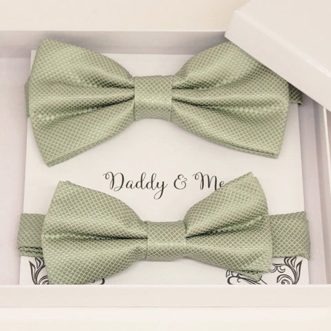 Sage green Bow tie set for daddy and son, Daddy me gift set, Grandpa and me, Father son matching, Toddler bow tie, daddy me bow tie gift