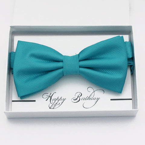 Turquoise blue bow tie Best man Groomsman Man of honor ring bearer request gift, Kids adult bow, Adjustable Pre tied High quality, Birthday Congrats