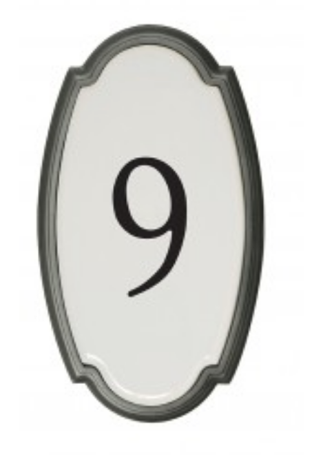 SNOC - 1727-8 ANTIQUE COPPER WALL-MOUNTED HOUSE NUMBER PLATE WITH ALUMINUM  FRAME
