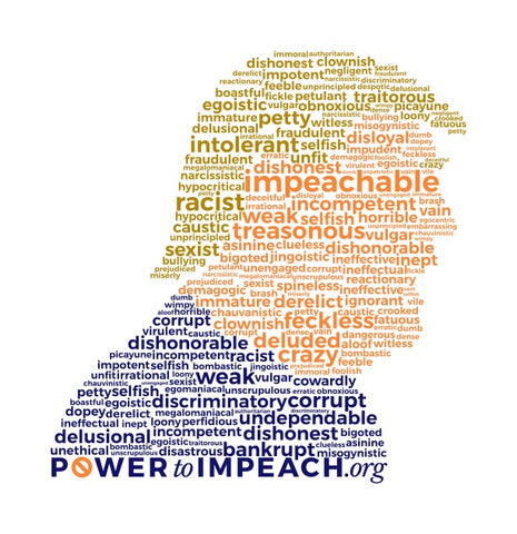 Impeachable Word Cloud T-shirt