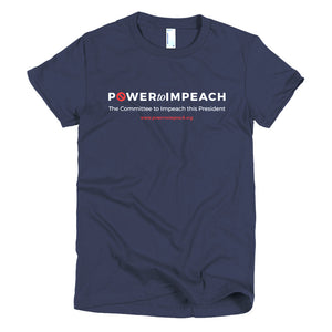 Power to Impeach Plain Dark Women's T-Shirt