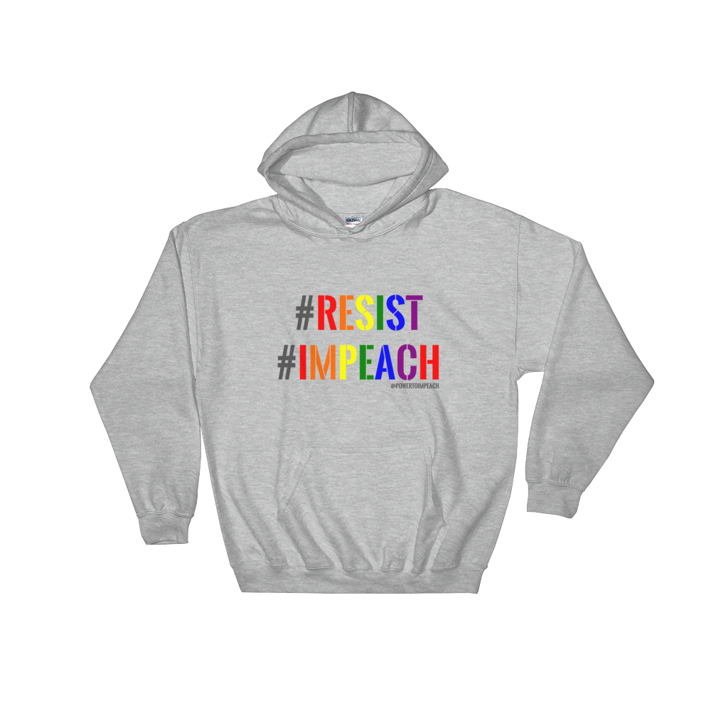 Resist Impeach Heathered Hoodie