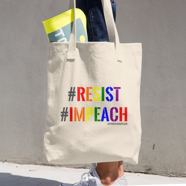 Resist Impeach Tote Bag