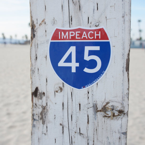 3-Pack of Interstate Impeach 45 Vinyl Stickers
