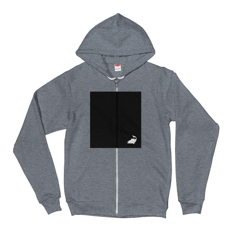 Black Square Zip Up