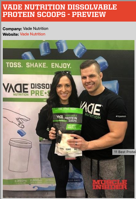 Muscle Insider | VADE Nutrition Dissolvable Protein Scoops