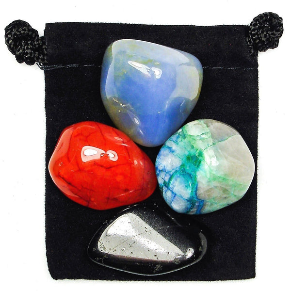 Negative Thoughts Tumbled Crystal Healing Set