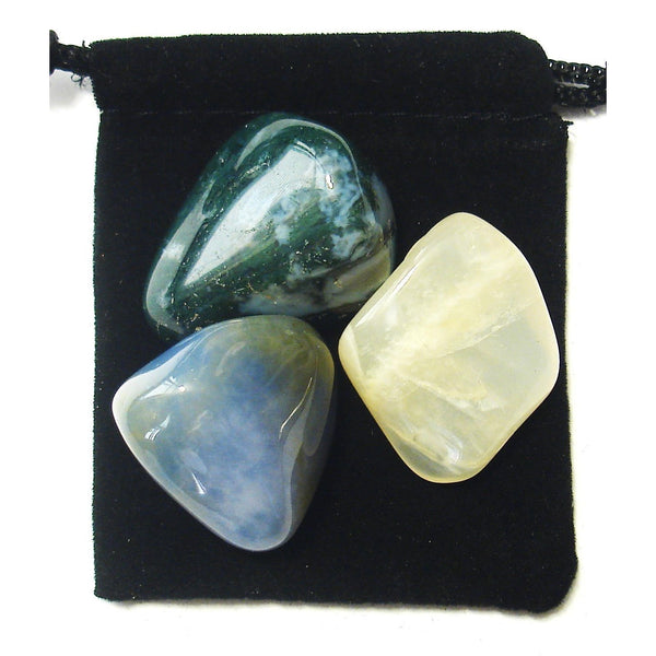 Cancer Zodiac / Astrological Tumbled Crystal Healing Set