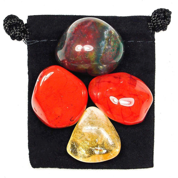 Mental Exhaustion Tumbled Crystal Healing Set