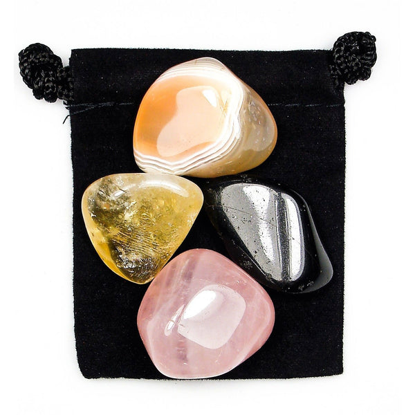 Positive Thoughts Tumbled Crystal Healing Set