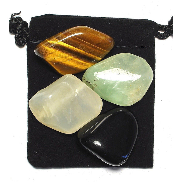 Manifestation (Law of Attraction) Tumbled Crystal Healing Set