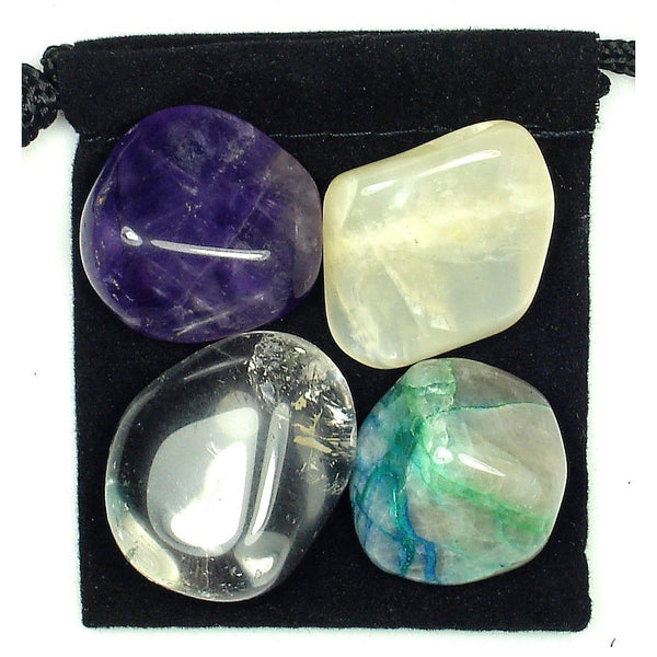 Pre Menstrual Syndrome (PMS) Relief Tumbled Crystal Healing Set