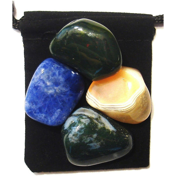 Lymphatic System Tumbled Crystal Healing Set