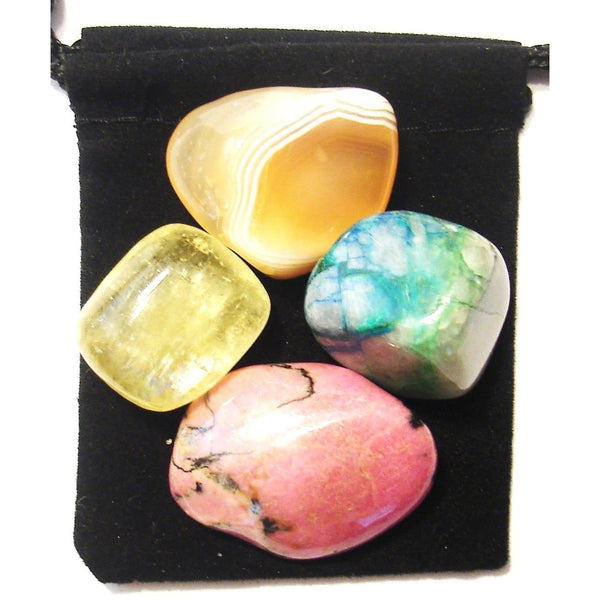 Stomach Ulcers Tumbled Crystal Healing Set