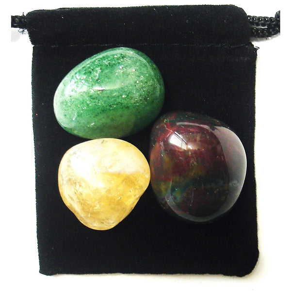Aries Zodiac / Astrological Tumbled Crystal Healing Set