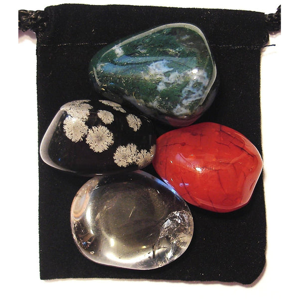 Yeast / Candida Regulator Tumbled Crystal Healing Set