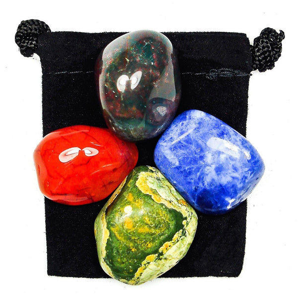Present in the Now (Mindfulness) Tumbled Crystal Healing Set