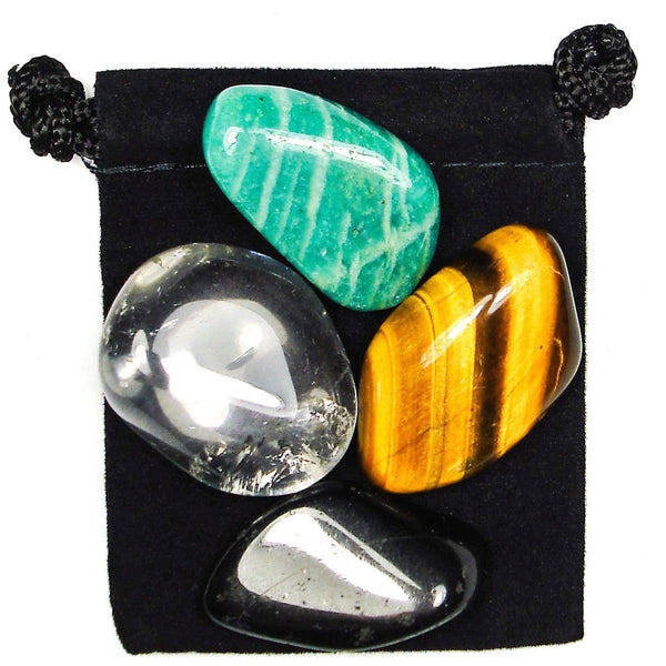 Brain Balance Tumbled Crystal Healing Set