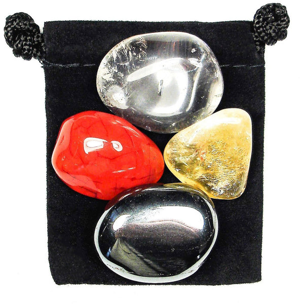 Concentration Tumbled Crystal Healing Set