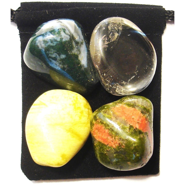 Physical Recovery Tumbled Crystal Healing Set