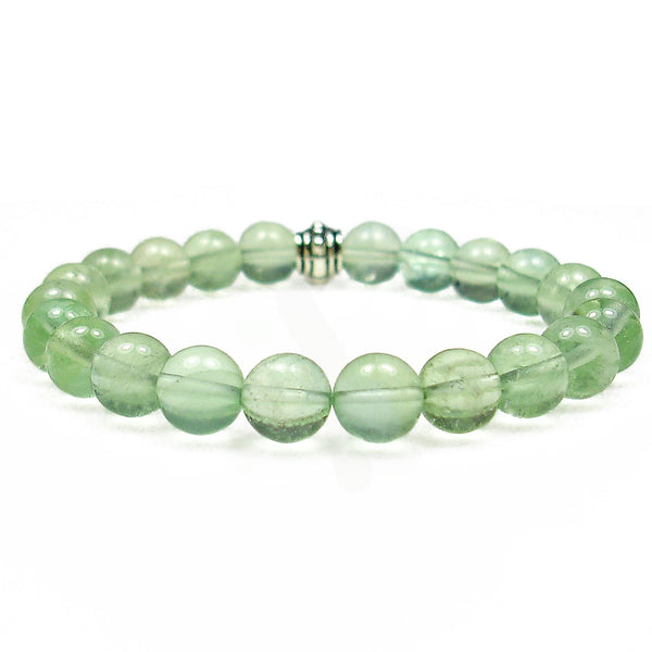 Fluorite (Green) 8mm Round Crystal Bead Bracelet
