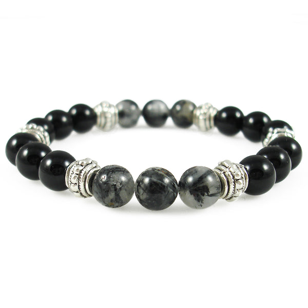 Self Control 8mm Crystal Intention Bracelet