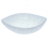 Satin Spar Selenite Lens Shape Crystal Charging Bowl