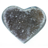 Amethyst Natural Crystal Druze Geode Cluster Carved Heart - Piece #2