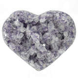 Amethyst Natural Crystal Druze Geode Cluster Carved Heart - Piece #3