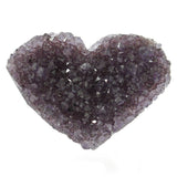Amethyst Natural Crystal Druze Geode Cluster Carved Heart - Small