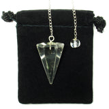 Clear Quartz Hexagonal Crystal Pendulum