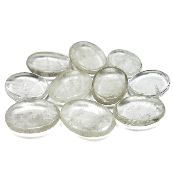 Clear Quartz Crystal Worry Stone