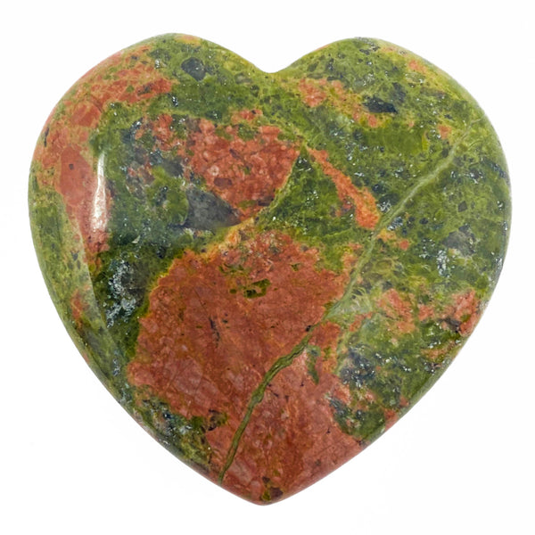 Unakite Crystal Heart