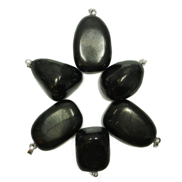 Shungite Tumbled Crystal Pendant