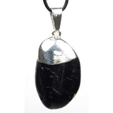 Black Tourmaline Tumbled Crystal Pendant