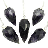 Amethyst Multi Faceted Crystal Pendulum