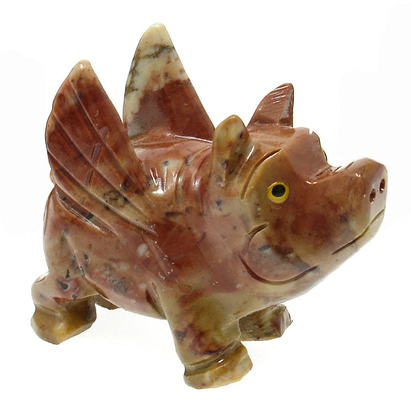 Dolomite Flying Pig Spirit Animal - (3 inch)