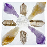 Satin Spar Selenite Square Crystal Charging Plate
