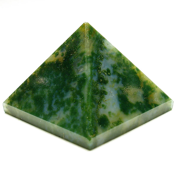 Moss Agate Crystal Pyramid