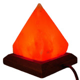 Himalayan Salt Lamp - Pyramid with Color Changing LED & USB Plug