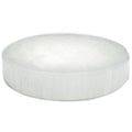 "Satin Spar Selenite Round Crystal Charging Plate (2"")"