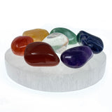 Satin Spar Selenite Round Crystal Charging Plate