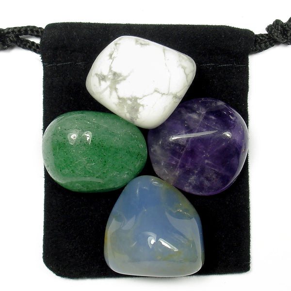 Anger Release Tumbled Crystal Healing Set