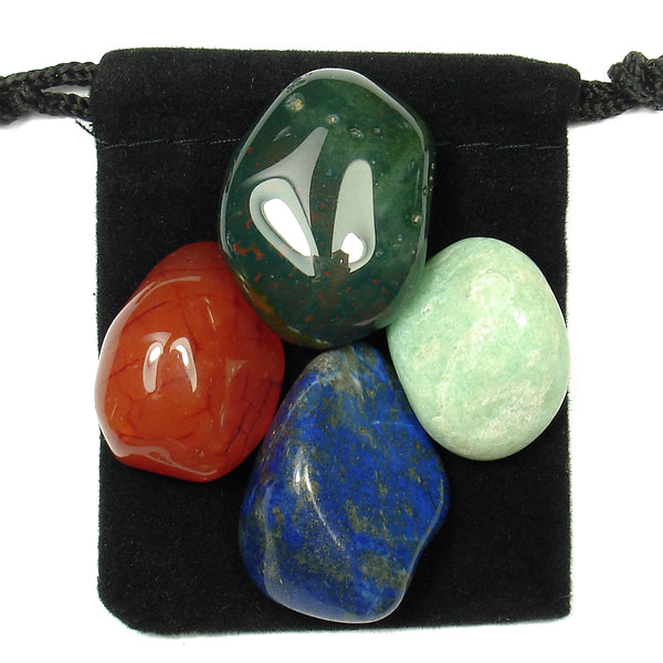 Asthma Relief Tumbled Crystal Healing Set