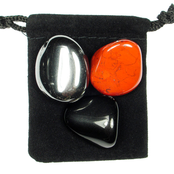 Root Chakra Tumbled Crystal Healing Set