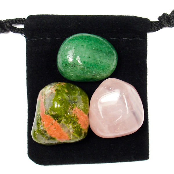 Heart Chakra Tumbled Crystal Healing Set